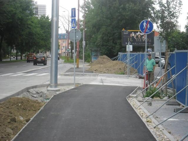Po niekoľkých desiatkach metrov koniec cyklotrasy