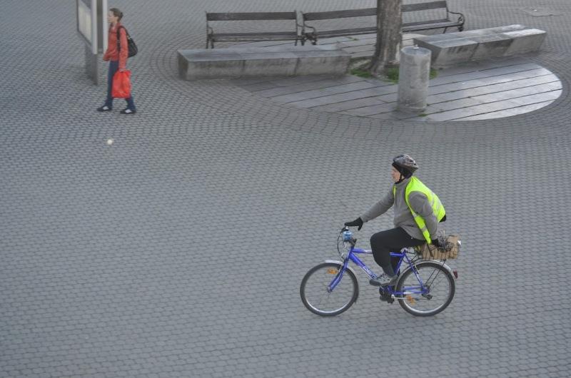Cyklisti pri Novom moste