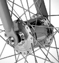 Nábojové dynamo na prednom kolese, zdroj: http://www.lehrerfreund.de/xinha/plugins/ImageManager/demo_images/papa/Elektro/Nabendynamo_am_Vorderrad_SON.jpg
