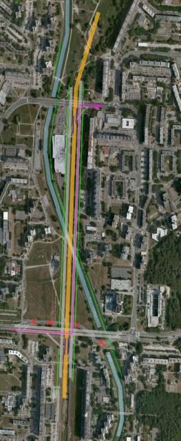 Satelitný záber úseku Pajštúnska - Jiráskova (návrh mesta)