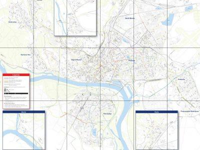 Mapa odporúčaných cyklotrás - Bratislava mesto
