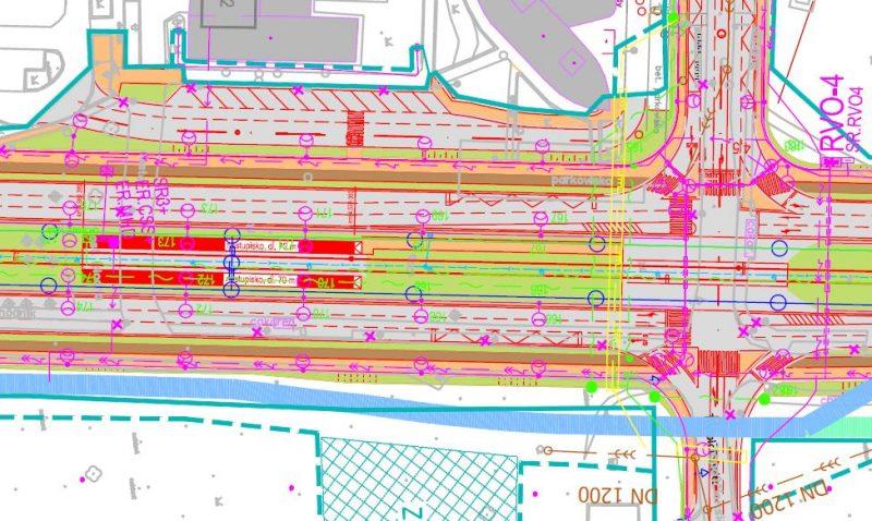 Obr. č. 3: Návrh zastávky električky pri Šintavskej