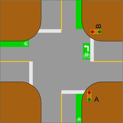 Križovatka - nepriame odbočenie vľavo