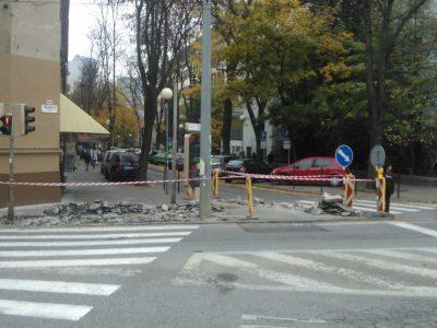Bezbariérové riešenie priechodu cez Záhradnícku vo výstavbe