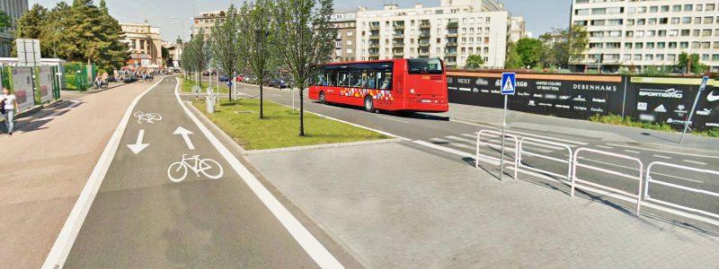 Zmena južnej časti Pribinovej na priestor pre nemotorovú dopravu - chodcov a cyklistov.