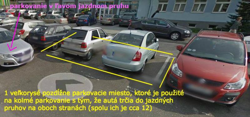 V minulosti bola Pribinova jeden veľký parkovací bordel - mimo vyznačených boxov, na chodníkoch, na tráve, v ľavom jazdnom pruhu...
