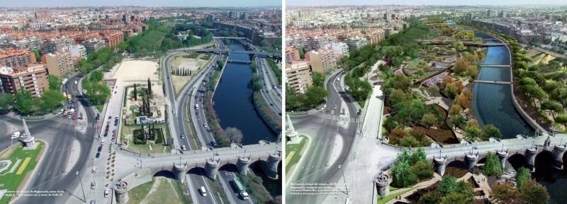 Madrid Río - pred a po