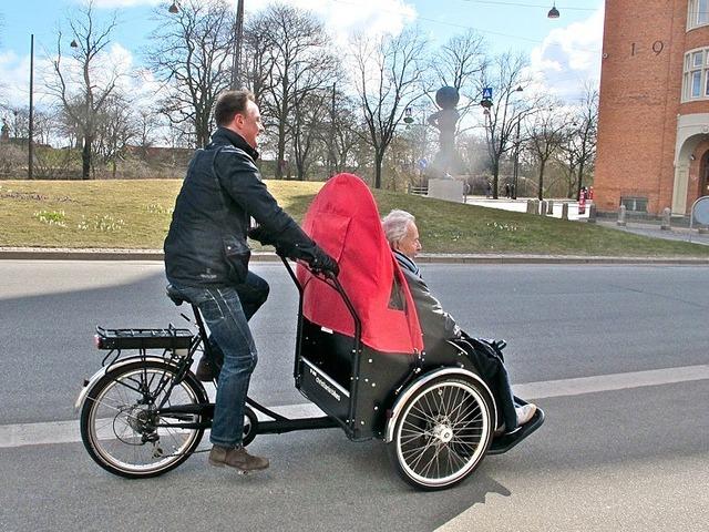 Christiania Taxi - rikša na vozenie seniorov po cyklotrase JURAVA