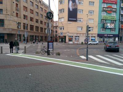 Nešťasne zvolené miesto začiatku cyklopruhu zavadzia chodcom