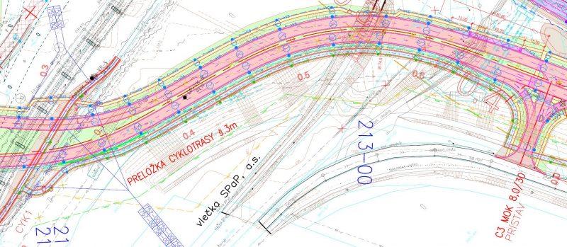 R27 po preložke v úseku Pristavny most - hradza smerom na Malý Dunaj (po výstavbe rýchlostnej cesty R7)