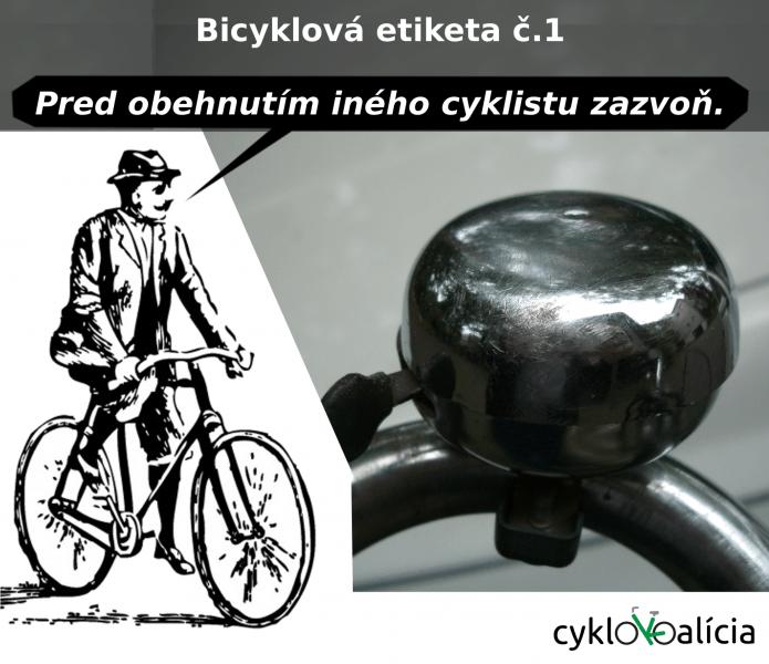 Bicyklová etiketa č.1: Zvonček