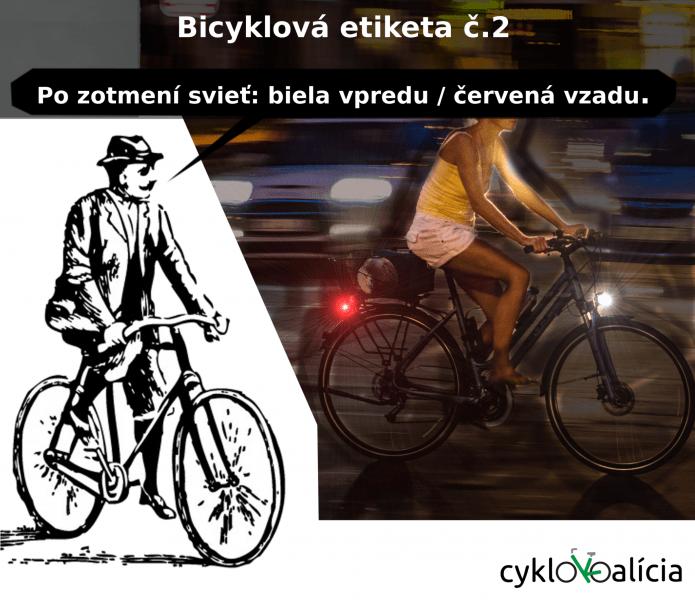 Bicyklová etiketa č.2: Svetlá