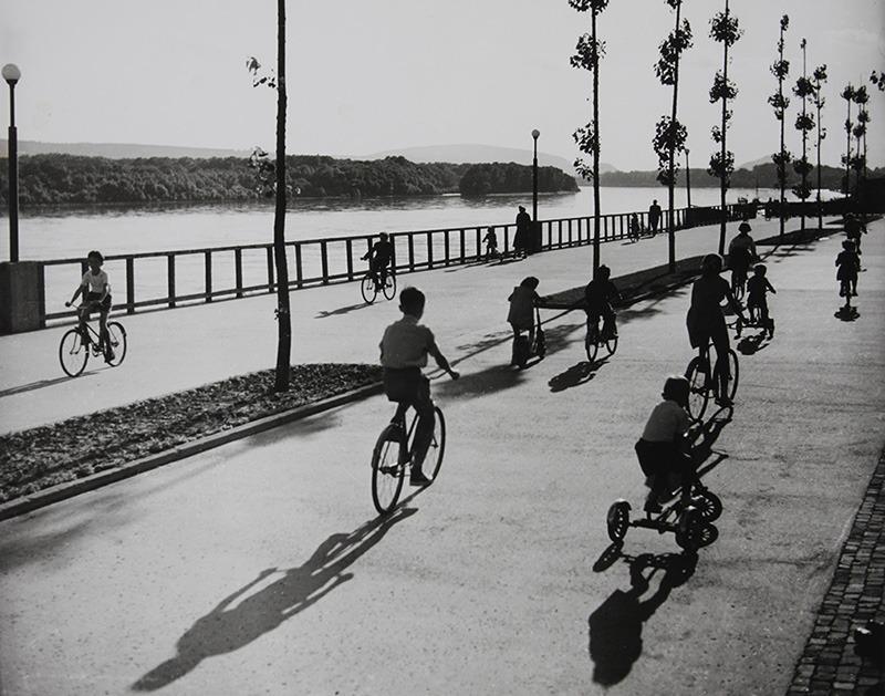 Dunajská promenáda pri PKO začiatkom 60-tych rokov 20. storočia (foto: Karol Kállay)