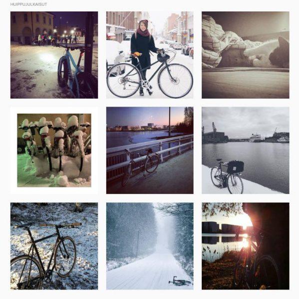 Zima na bicykli Finsko