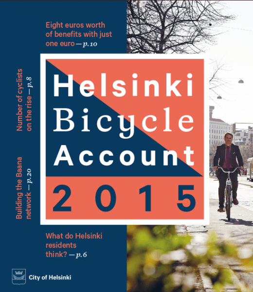 Helsinki Bicycle Account je publikácia, ktorá obyvateľov oboznamuje so štatistikami, plánovanými cyklotrasami a ďalšími užitočnými informáciami. Ak chcete získať skvelý prehľad o cyklistike v Helsinkách, nájdete ho tu