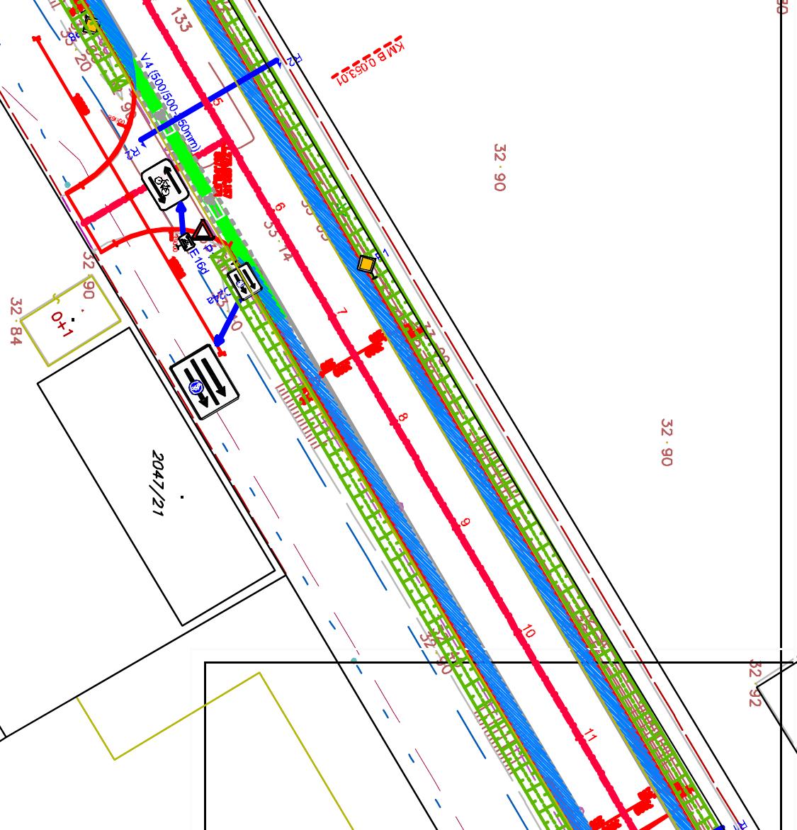 Cyklotraa S840 bude probne ako smerom na Rendez riešená formou cyklopruhu rozšírením cesty
