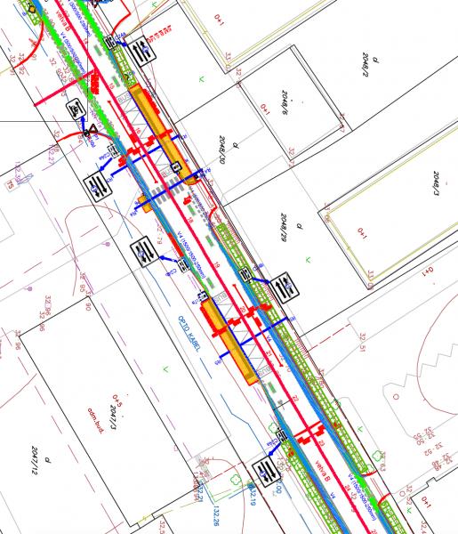 V priestore zastávok MHD Športové letisko bude cyklopruh prerušený a vo vozovke bude vyznačený koridor pre cyklistov