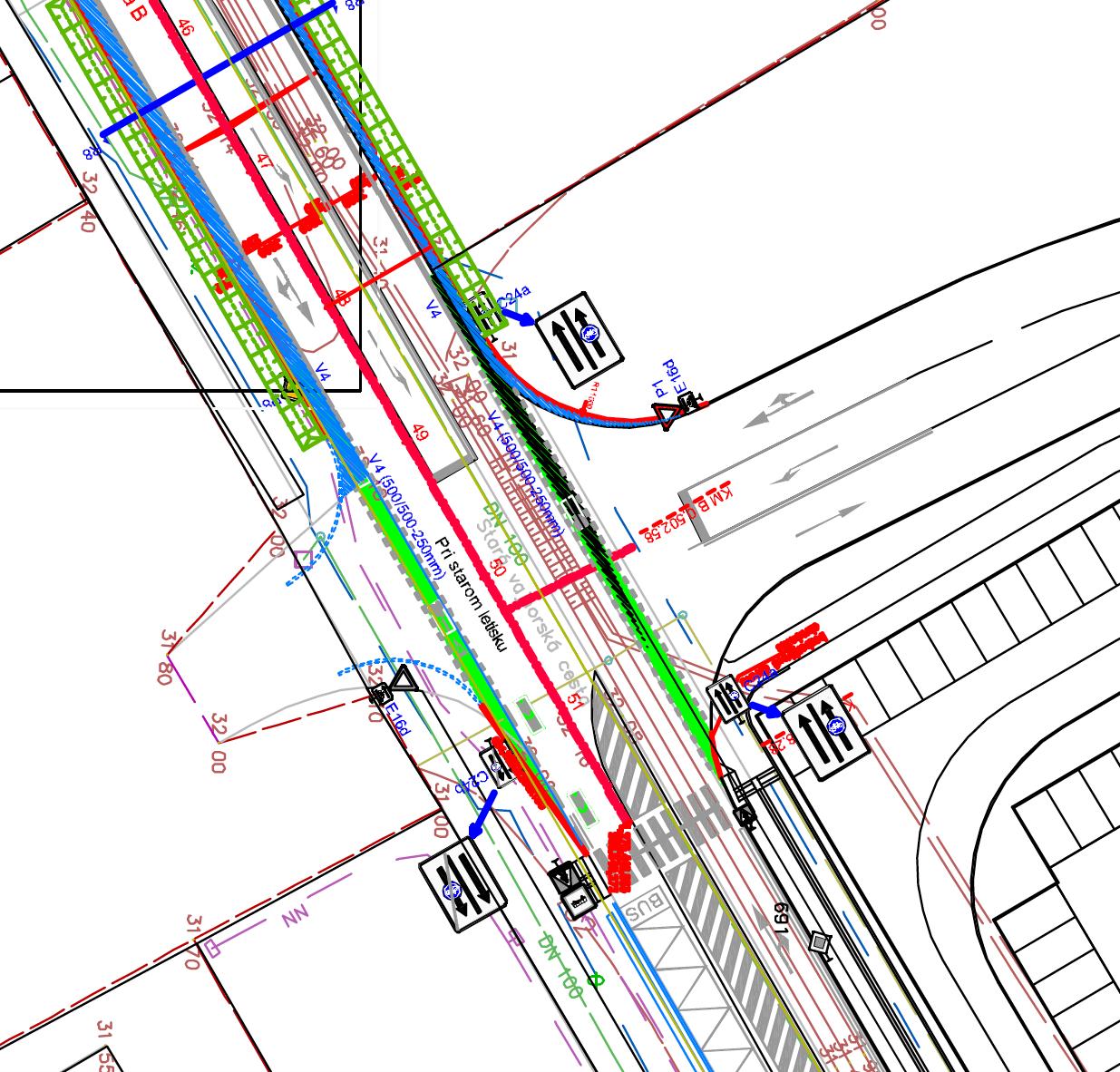 Cyklotrasa S840 sa napojí na existujúci úsek cestičky pre cyklistov pri OC Vajnoria