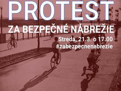 Protestná cyklojazda za bezpečné nábrežie